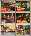 "Movie Posters:War, Halls of Montezuma (20th Century Fox, 1951 & R-1956). TitleLobby Card & Lobby Cards (5) (11"" X 14""). War.. ... (Total: 6Items)"