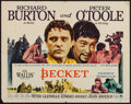"Movie Posters:Drama, Becket (Paramount, 1964). Half Sheet (22"" X 28""). Drama.. ..."