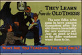 """Movie Posters:Miscellaneous, They Learn from the Old Timers (Mather and Company, 1923). Motivational Poster (28"""" X 41.5""""). Miscellaneous.. ..."""