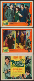 """Movie Posters:Crime, The Green Glove (United Artists, 1952). Title Lobby Card & Lobby Cards (2) (11"""" X 14""""). Crime.. ... (Total: 3 Items)"""