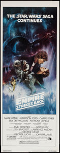 "Movie Posters:Science Fiction, The Empire Strikes Back (20th Century Fox, 1980). Insert (14"" X36"") Style A. Science Fiction.. ..."
