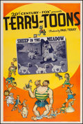"""Movie Posters:Animation, Terry-Toon Cartoons (20th Century Fox, 1939). Stock One Sheet (27""""X 41"""") """"Sheep in the Meadow."""" Animation.. ..."""