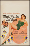 "Movie Posters:Musical, Meet Me in Las Vegas (MGM, 1956). Window Card (14"" X 22""). Musical.. ..."