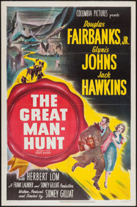 "The Great Manhunt (Columbia, 1950). One Sheet (27"" X 41""). Thriller"