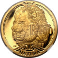 South Africa, South Africa: Republic gold Proof 100 Rand Natura 2003,...