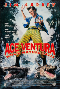 "Ace Ventura: When Nature Calls (Warner Brothers, 1995). One Sheet (27"" X 40"") DS. Comedy"