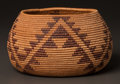 American Indian Art:Baskets, A MAIDU COILED BOWL. c. 1900...