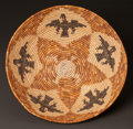 American Indian Art:Baskets, A CAHUILLA MISSION PICTORIAL POLYCHROME COILED BOWL. c. 1900...