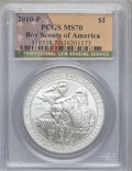 Modern Issues, 2010-P $1 Boy Scouts MS70 PCGS. PCGS Population (2623). NGC Census:(5499). Numismedia Wsl. Price for problem free NGC/PCG...