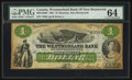 Canadian Currency: , Moncton, NB- The Westmorland Bank $1 Aug. 1, 1861 Ch. # 800-12-02RRemainder. ...