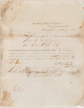 Autographs:Statesmen, Judah P. Benjamin Military Appointment Signed...