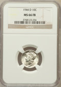 Mercury Dimes: , 1944-D 10C MS66 Full Bands NGC. NGC Census: (2752/1261). PCGSPopulation (3753/1261). Mintage: 62,224,000. Numismedia Wsl. ...