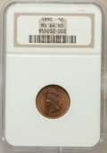 Indian Cents: , 1890 1C MS64 Red NGC. NGC Census: (41/21). PCGS Population (79/53).Mintage: 57,182,856. Numismedia Wsl. Price for problem ...