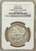 Morgan Dollars, 1884-S $1 -- Improperly Cleaned -- NGC Details. AU. NGC Census:(823/4375). PCGS Population (1040/3442). Mintage: 3,200...