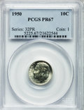 Proof Roosevelt Dimes: , 1950 10C PR67 PCGS. PCGS Population (242/4). NGC Census: (302/73).Mintage: 51,386. Numismedia Wsl. Price for problem free ...