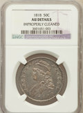 Bust Half Dollars, 1818 50C -- Improperly Cleaned -- NGC Details. AU. NGC Census:(43/492). PCGS Population (89/305). Mintage: 1,960,322. Numi...
