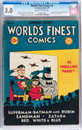 Golden Age (1938-1955):Superhero, World's Finest Comics #5 (DC, 1942) CGC GD/VG 3.0 Cream to off-white pages....
