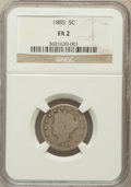 Liberty Nickels: , 1885 5C Fair 2 NGC. NGC Census: (51/528). PCGS Population(61/1078). Mintage: 1,476,490. ...