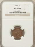 1885 1C MS65 Brown NGC. NGC Census: (56/15). PCGS Population (15/2). Mintage: 11,765,384. Numismedia Wsl. Price for prob...