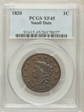 Large Cents: , 1820 1C Small Date XF45 PCGS. PCGS Population (5/23). NumismediaWsl. Price for problem free NGC/PCGS c...