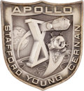 Explorers:Space Exploration, Apollo 10 Flown Silver Robbins Medallion Directly from the Personal Collection of Mission Command Module Pilot John Young, Ser...