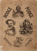 Books:Americana & American History, [19th Century Humor] The Comic Hodge Podge Medley Mirth! [DeWitt], [no date]. Publisher's pictorial wrappers. Illus...