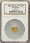 """California Gold Charms, """"1884"""" Arms of California, Octagonal MS64 NGC. 0.23 gm...."""