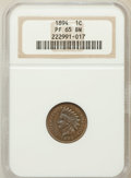 Proof Indian Cents: , 1894 1C PR65 Brown NGC. NGC Census: (15/6). PCGS Population (7/2).Mintage: 2,632. Numismedia Wsl. Price for problem free N...