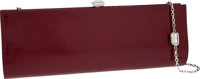 Judith Leiber Red Patent Leather Clutch Evening Bag