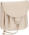 Luxury Accessories:Bags, Judith Leiber Beige Leather Backpack Style Shoulder Bag. ...