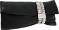 Luxury Accessories:Bags, Jimmy Choo Black Leather & Crystal Roll Clutch Bag. ...