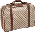 Luxury Accessories:Travel/Trunks, Gucci Classic Monogram Waxed Canvas Carryon Suitcase. ...
