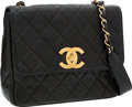 Luxury Accessories:Bags, Chanel Black Lambskin Leather Classic Flap Shoulder Bag. ...