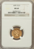 Liberty Quarter Eagles: , 1878 $2 1/2 MS60 NGC. NGC Census: (58/1529). PCGS Population(37/954). Mintage: 286,260. Numismedia Wsl. Price for problem ...