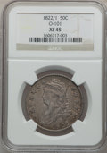 Bust Half Dollars: , 1822/1 50C XF45 NGC. O-101. NGC Census: (10/64). PCGS Population(17/59). Numismedia Wsl. Price for problem free NGC/PCGS...