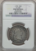 Early Half Dollars: , 1795 50C 2 Leaves -- Plugged -- NGC Details. Fine. O-104. NGCCensus: (124/541). PCGS Population (204/712). Mintage: 299,6...