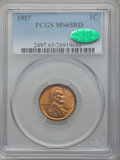 Lincoln Cents: , 1917 1C MS65 Red PCGS. CAC. PCGS Population (231/138). NGC Census:(62/23). Mintage: 196,429,792. Numismedia Wsl. Price for...