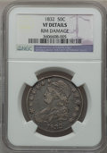Bust Half Dollars: , 1832 50C Small Letters -- Rim Damage -- NGC Details. VF. NGCCensus: (20/1927). PCGS Population (19/2088). Mintage: 4,797,0...
