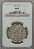Bust Half Dollars: , 1831 50C XF45 NGC. NGC Census: (129/1207). PCGS Population(213/1218). Mintage: 5,873,660. Numismedia Wsl. Price for proble...