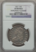 Bust Half Dollars: , 1827 50C Square Base 2 -- Improperly Cleaned -- NGC Details. XF.NGC Census: (90/1800). PCGS Population (178/1548). Mintage...