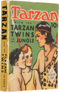 Big Little Book:Adventure, Big Little Book #nn Tarzan with the Tarzan Twins in the Jungle (Dell, 1938) Condition: FN/VF....
