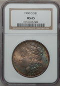 Morgan Dollars, 1900-O $1 MS65 NGC. NGC Census: (6559/1038). PCGS Population(5819/933). Mintage: 12,590,000. Numismedia Wsl. Price for pro...