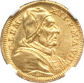 Italy, Italy: Papal States. Clement XII gold Scudo d'Oro 1738 AnnoVIII,...