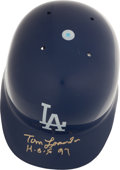 Baseball Collectibles:Others, Tommy Lasorda Signed Los Angeles Dodgers Helmet. ...