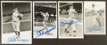 Baseball Collectibles:Photos, Musial, Mantle, Williams and DiMaggio Signed Photographs Lot of4....