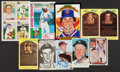 Baseball Collectibles:Others, Baseball Greats Signed Oversized Cards, Photographs, Postcards Lotof 10....