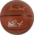 Basketball Collectibles:Balls, Jerry West and Magic Johnson Multi Signed Basketball....