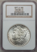 Morgan Dollars: , 1897-S $1 MS64 NGC. NGC Census: (2216/807). PCGS Population(2847/1304). Mintage: 5,825,000. Numismedia Wsl. Price for prob...