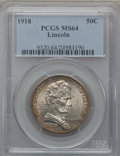 Commemorative Silver: , 1918 50C Lincoln MS64 PCGS. PCGS Population (2198/1810). NGCCensus: (1741/1447). Mintage: 100,058. ...