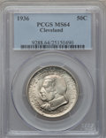 Commemorative Silver: , 1936 50C Cleveland MS64 PCGS. PCGS Population (2809/2818). NGCCensus: (1634/2488). Mintage: 50,030. Numismedia Wsl. Price ...